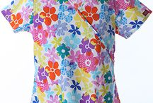 Summer Love / Great print and solid scrubs to wear when it gets hot out!