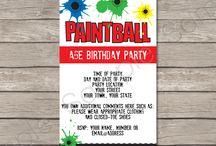 Paintball Birthday Party Ideas
