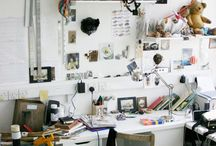 Studio and inspiration boards / by Christine Souder