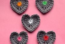 Crochet hearts / Sally's projects