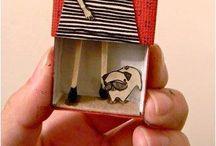 Caixas de fósforos origami ou dobradura