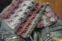 My cowl and fingerless gloves / Scaldacolli in lana