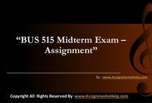 BUS 515 Midterm Exam