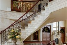 Show Stopping Foyers / Foyers that are so unbelievable they set the tone for the entire home. The details, stone, chandeliers, wood work, ceiling  height and design set these foyers apart
