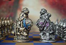 Chess set / Chess, set, game, Alice, wonderland