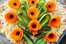 Dekoracje na salatkach