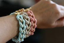 Crochet + Knitting + jewellery