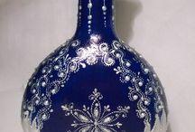 декор бутылок, банок