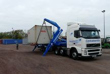Containerlift / Safety first with loading your container on the ground then we can arrange all of the shipping for you. All of your transport and shipping requirements dealt with under one roof! Give one of our team a call today on +44 1371 879400 and see how we can help you!