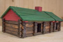 log home building