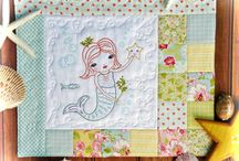 Quilts- embroidery, patchwork, applique and more / I love quilts large and small. These are patchwork, scrappy, holiday themed, applique, embroidery, and very girly!