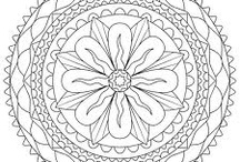 Mandalas and Coloring Pages / by Kimberly Bolin