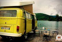 Citron / Bay Window, VW camper. Combi des Alpes - Annecy  VW van rental - location