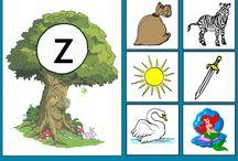 school: taal (letterkaarten)