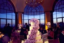 Lighted wedding cake table
