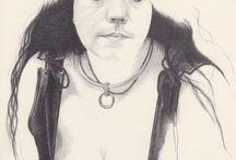 Portraits / Meine Portraits, gezeichnet,gemalt in altmeisterlicher Technik