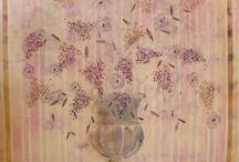 créations CORINNE COULY-Peinture / Art-tentures murales-teintures naturelles--peinture-