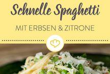 Pasta Bowls: Pasta, Gnocchi, Zoodles / Pasta geht immer! Egal ob Nudeln, low carb Zoodles oder Gnocchi. Viele Rezepte und Pasta-Inspirationen findet ihr hier auf dem Blog.