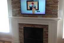 Fireplace Makeovers / Fireplace makeover inspiration