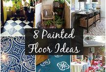 Ideen für angemalte Fußböden