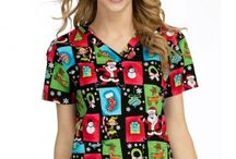 Christmas Scrubs 2016 / Christmas print scrubs