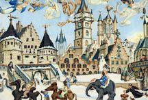 Oudes, Jaap / Jaap Oudes is geboren op 1 februari 1926 en overleden in 1998 in Alkmaar.  De nalatenschap van de kunstenaar is een collectie van prachtige tekeningen die in vele kleuren de volkscultuur nauwkeurig tot leven brengt. Meester van het kleurpotlood.