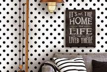 Интерьер в горошек / Гороховый принт может сделать вашу комнату кокетливой, по-детски игривой и очень элегантной…