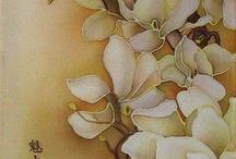 Рисунок на шелке