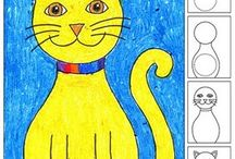 kids art / coloring sheets