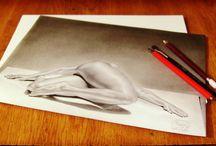 My hobbie / Black and white drawings