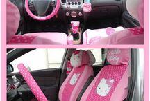 Hello kitty interior car