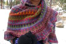 chusty z netu / piękne chusty na drutach.