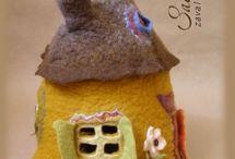 валяные домики