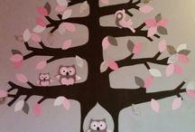 decoratie kinderkamer / prachtige decoratie voor de kinderkamer.  Gemaakt van behang.