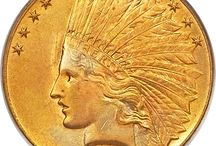 Gold Coins / Gold coins with interesting designs.