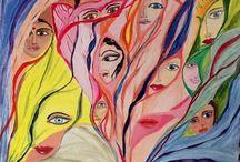 Acrylic painting / Veils