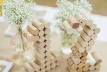 Wedding table / Cork ideas