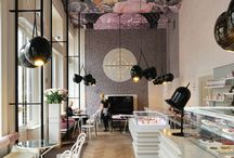 wallpapered ceilings