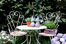 Garden Fair... / Wrought iron chairs and table, romantic county style garden sets, vintage and antique garden decorations and also many brocante...