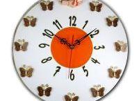 HORLOGES SILENCIEUSES SUR DISQUES VINYLES / horloges murales de décoration, mécanismes silencieux, créees sur disque vinyle