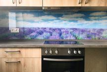 Hellglas Küchenrückwände