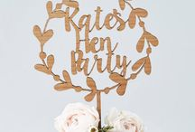 """Hen & Stag Party / Celebrating your best friend's final hurrah before they head down the aisle to say her tearful """"I dos"""" is traditionally a great excuse to get all your girl/ guy gang together and party. Why not get creative and add personal touches along with fun, unforgettable gifts. / by notonthehighstreet.com"""