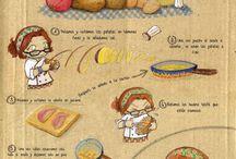 Recetas / Recetas típicas muy visuales. Para practicar el imperativo o animarse a cocinar ;D.