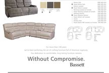 Bassett Motion Collection / We've been perfecting the art of crafting furniture full of American ingenuity.Our dedication to comfortable, long lasting furniture remains. Without Compromise.