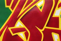 Graffiti / Spraypaint acrylics markers brush art kunst konst graffiti lines canvas letters