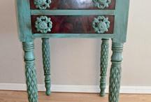 Furniture - ART + Antique / painted furniture, mosaic art, antique