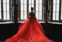 Red wedding dresses.