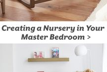 Master bedroom with baby