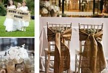 chamonix wedding ideas - hessian
