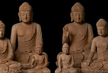 Wooden Buddha Sculptures / These Wooden Buddha sculptures are hand carved by Woodcarving Master Kil-Yang Huh in South Korea. He is renowned for his delicate, yet spiritually powerful carvings. For his work, Master Huh was designated as Living National Treasure.